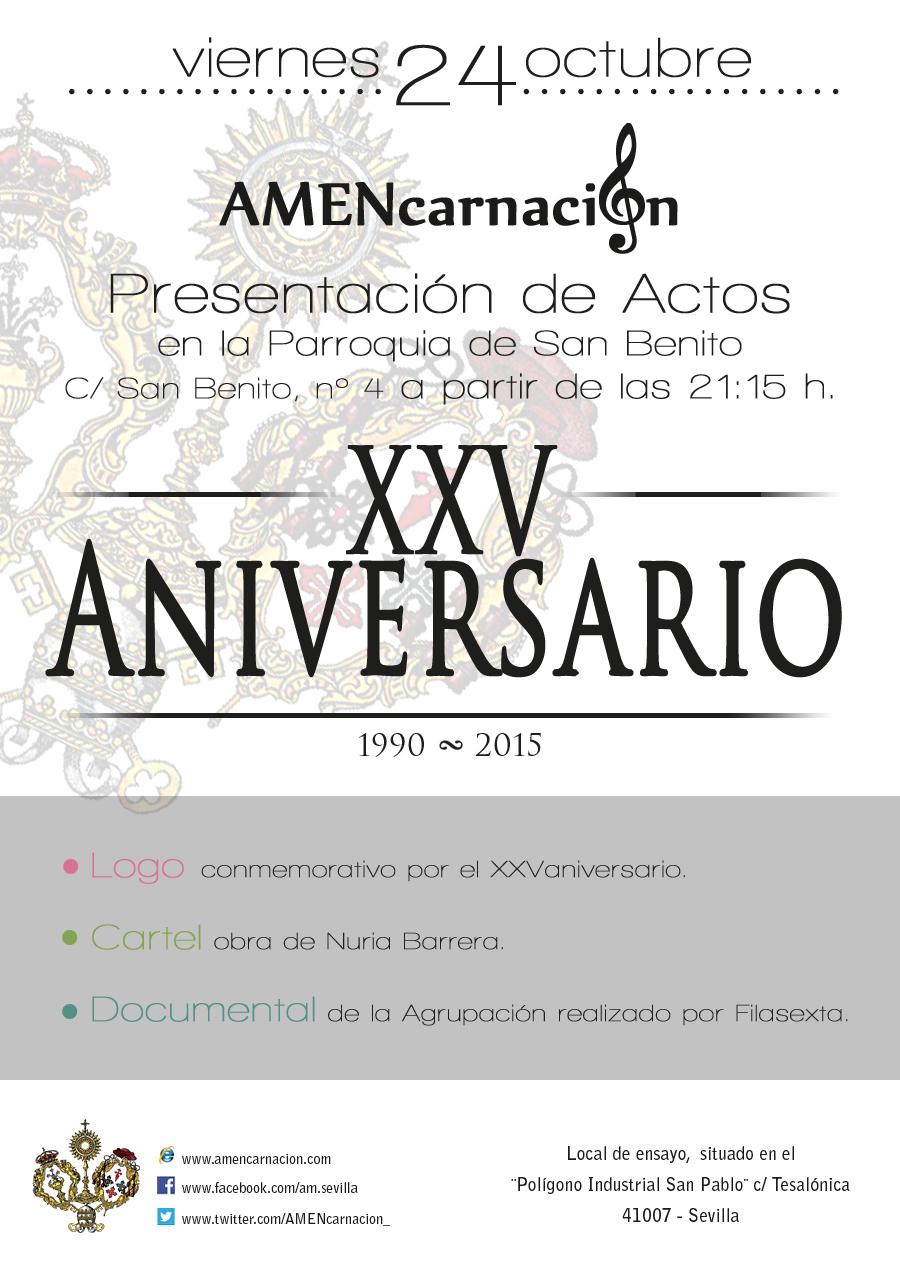 Presentación de los Actos por el XXV Aniversario
