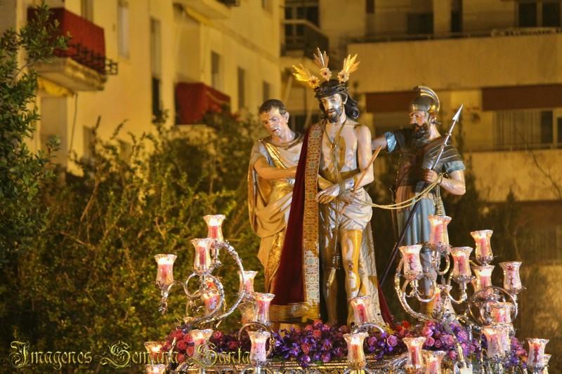 Jueves Santo en Jerez de la Frontera, tras el Señor del Ecce Homo